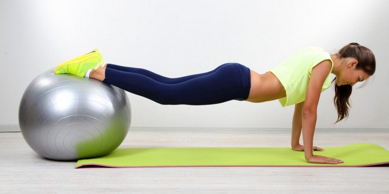 Exercises on fitball