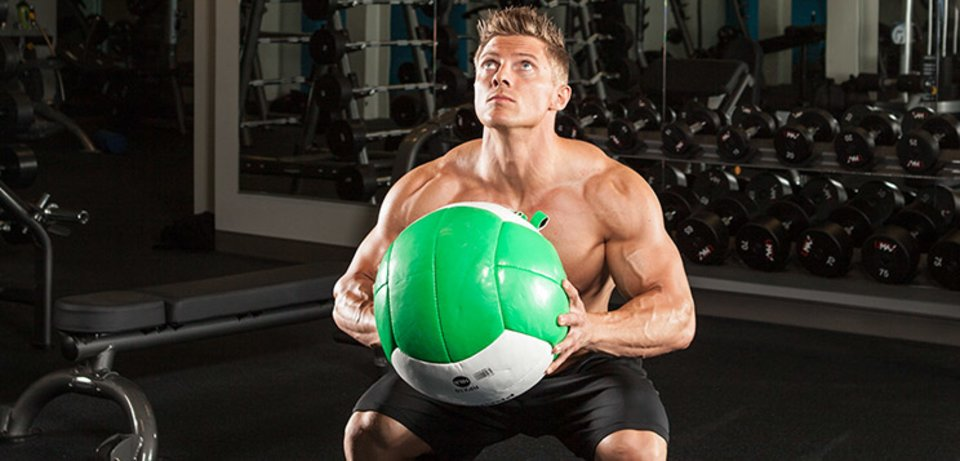 steve cook optimum nutrition medicine ball